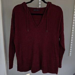 AEO Hooded V-Neck Sweater